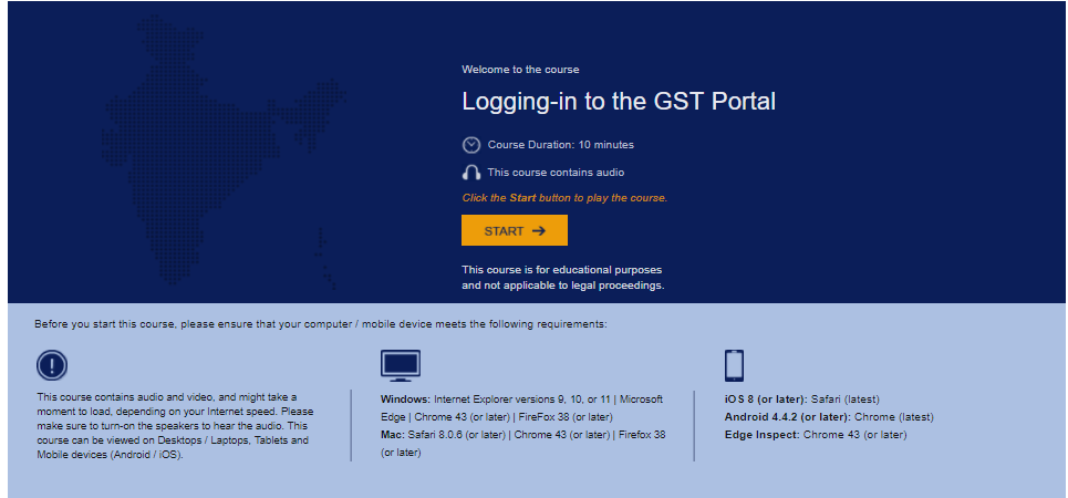 video on Logging-in to the GST portal