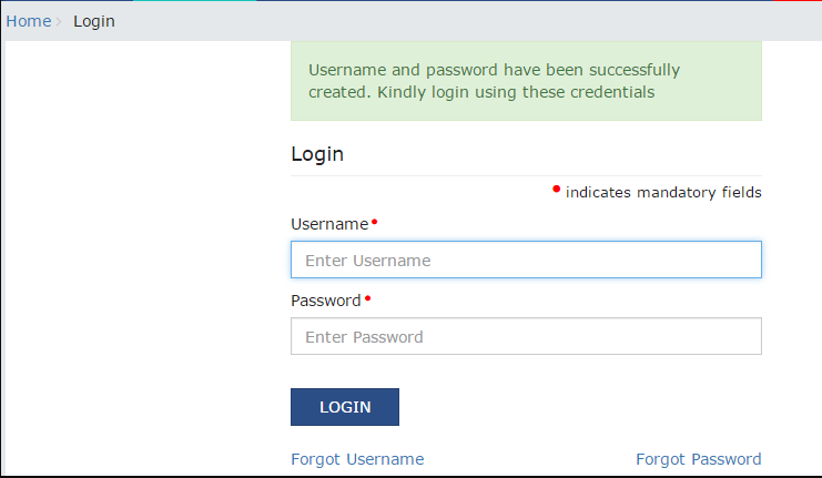 new user login